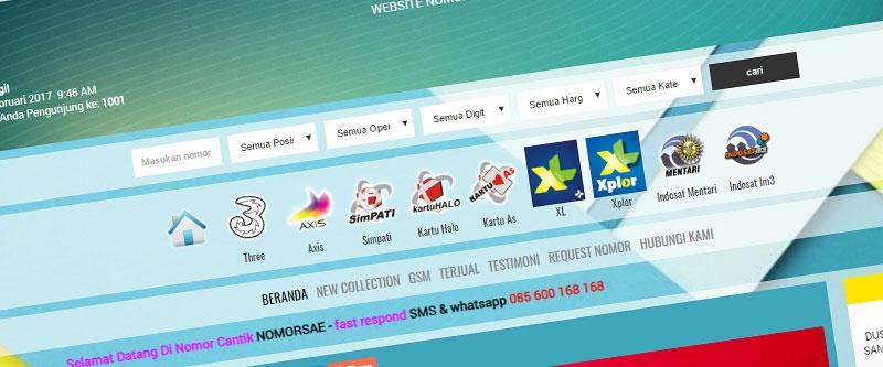 Jasa Pembuatan Website Bandung Murah  Jasa pembuatan website murah Bandung Nomor Cantik Nomorsae