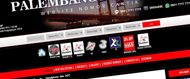 Jasa Pembuatan Website Bandung Murah  Jasa pembuatan website murah Bandung Nomor Cantik Palembang Perdana