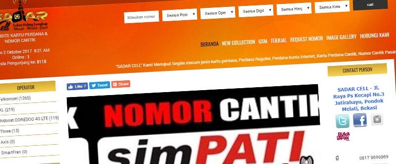Jasa Pembuatan Website Bandung Murah  Jasa pembuatan website murah Bandung Nomor Cantik sadarcell.com