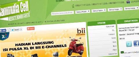 Jasa Pembuatan Website Bandung Murah  Jasa pembuatan website murah Bandung Nomor Cantik Sammulia Cell