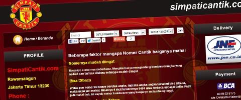 Jasa Pembuatan Website Bandung Murah  Jasa pembuatan website murah Bandung Nomor Cantik Simpaticantik.com