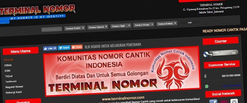 Jasa Pembuatan Website Bandung Murah  Jasa pembuatan website murah Bandung Nomor Cantik terminalnomor.com