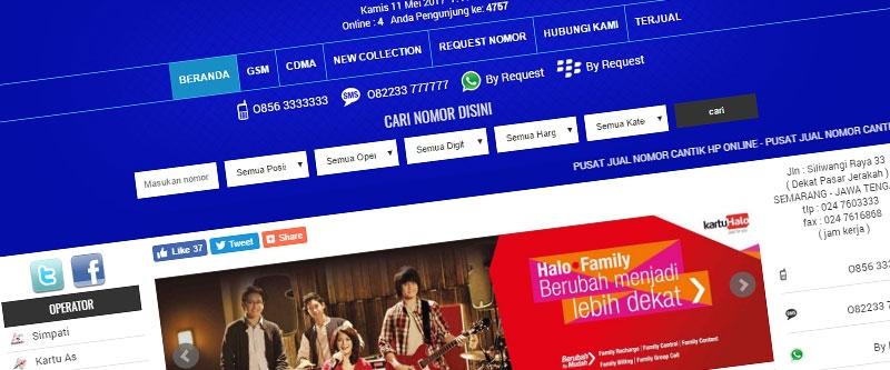 Jasa Pembuatan Website Bandung Murah  Jasa pembuatan website murah Bandung Nomor Cantik Toko Nomor