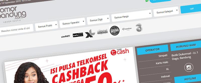 Jasa Pembuatan Website Bandung Murah nomorbandung.com Jasa pembuatan website murah Bandung Nomor Cantik nomorbandung.com