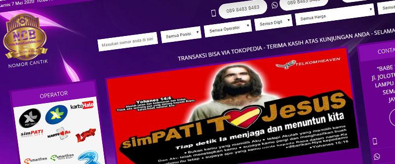 Jasa Pembuatan Website Bandung Murah nomorcantikbos.com Jasa pembuatan website murah Bandung Nomor Cantik nomorcantikbos.com