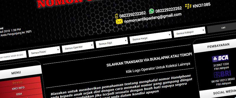 Jasa Pembuatan Website Bandung Murah nomorcantikpadang.com Jasa pembuatan website murah Bandung Nomor Cantik nomorcantikpadang.com