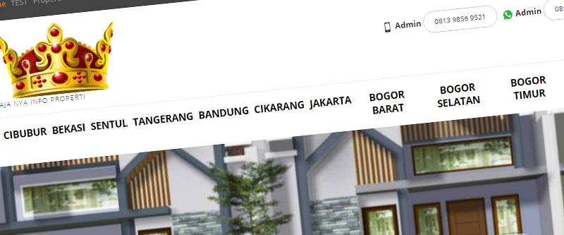 Jasa Pembuatan Website Bandung Murah rajaproperti.net Jasa pembuatan website murah Bandung Company Profile rajaproperti.net