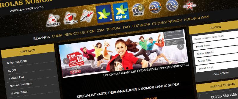 Jasa Pembuatan Website Bandung Murah rolasnomor.com Jasa pembuatan website murah Bandung Nomor Cantik rolasnomor.com