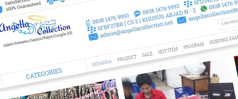 Jasa Pembuatan Website Bandung Murah  Jasa pembuatan website murah Bandung Toko Online Angella Collection