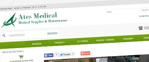 Jasa Pembuatan Website Bandung Murah  Jasa pembuatan website murah Bandung Toko Online Ates Medical