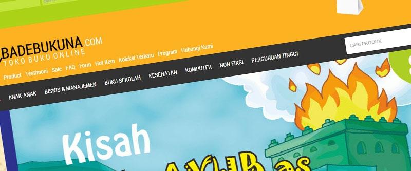 Jasa Pembuatan Website Bandung Murah  Jasa pembuatan website murah Bandung Toko Online badebukuna.com