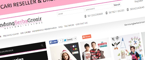 Jasa Pembuatan Website Bandung Murah  Jasa pembuatan website murah Bandung Toko Online Bandung Serba Grosir