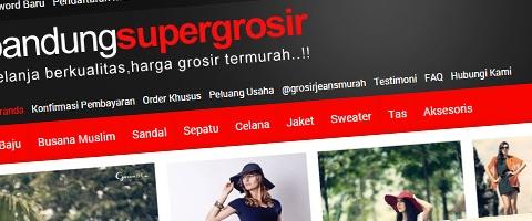 Jasa Pembuatan Website Bandung Murah  Jasa pembuatan website murah Bandung Toko Online Bandung Super Grosir