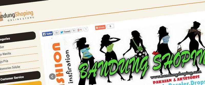 Jasa Pembuatan Website Bandung Murah  Jasa pembuatan website murah Bandung Toko Online Bandungshoping