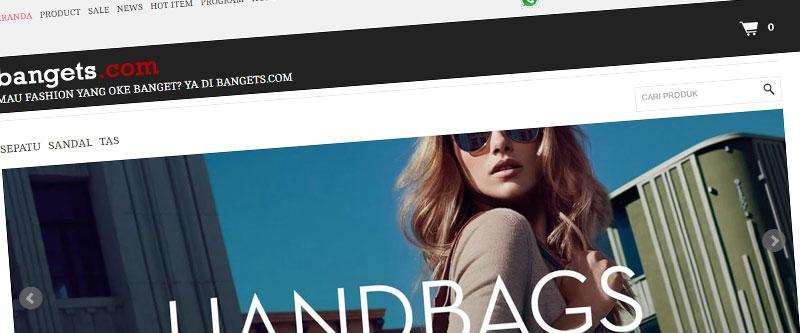 Jasa Pembuatan Website Bandung Murah  Jasa pembuatan website murah Bandung Toko Online Bangets