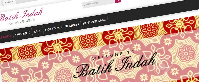 Jasa Pembuatan Website Bandung Murah  Jasa pembuatan website murah Bandung Toko Online batikindah.com