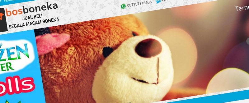 Jasa Pembuatan Website Bandung Murah  Jasa pembuatan website murah Bandung Toko Online Bos boneka