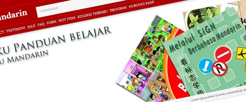 Jasa Pembuatan Website Bandung Murah  Jasa pembuatan website murah Bandung Toko Online Buku Mandarin
