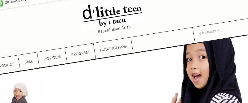 Jasa Pembuatan Website Bandung Murah  Jasa pembuatan website murah Bandung Toko Online Butik Muslim Anak