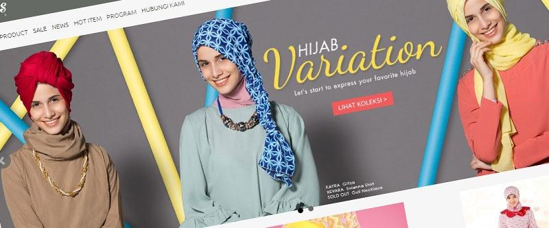 Jasa Pembuatan Website Bandung Murah  Jasa pembuatan website murah Bandung Toko Online Caress Hijab
