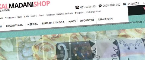 Jasa Pembuatan Website Bandung Murah  Jasa pembuatan website murah Bandung Toko Online Cikal Madani Shop