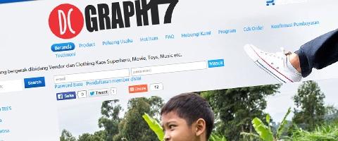 Jasa Pembuatan Website Bandung Murah  Jasa pembuatan website murah Bandung Toko Online DC Grapf 17