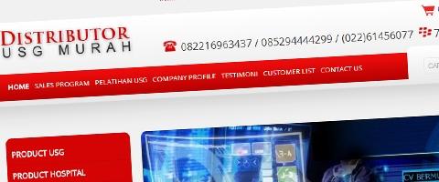 Jasa Pembuatan Website Bandung Murah  Jasa pembuatan website murah Bandung Toko Online Distributor USG Murah