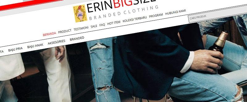 Jasa Pembuatan Website Bandung Murah  Jasa pembuatan website murah Bandung Toko Online Erin Big Size