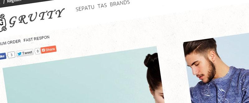 Jasa Pembuatan Website Bandung Murah  Jasa pembuatan website murah Bandung Toko Online Grutty Shoes
