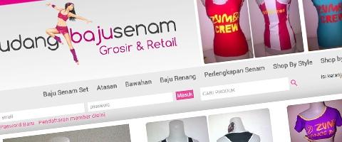 Jasa Pembuatan Website Bandung Murah  Jasa pembuatan website murah Bandung Toko Online Gudang Baju Senam