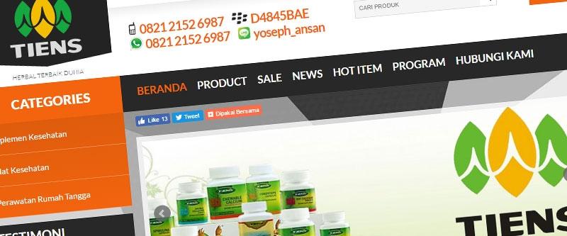 Jasa Pembuatan Website Bandung Murah  Jasa pembuatan website murah Bandung Toko Online Herbal Terbaik Dunia