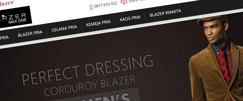 Jasa Pembuatan Website Bandung Murah  Jasa pembuatan website murah Bandung Toko Online jualblazer.com