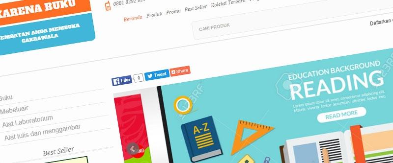 Jasa Pembuatan Website Bandung Murah  Jasa pembuatan website murah Bandung Toko Online Karena Buku