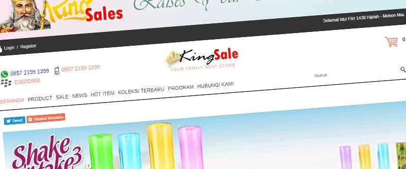 Jasa Pembuatan Website Bandung Murah  Jasa pembuatan website murah Bandung Toko Online kingsales-co.id