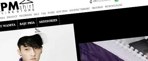 Jasa Pembuatan Website Bandung Murah  Jasa pembuatan website murah Bandung Toko Online RPM Shirt