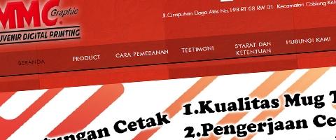 Jasa Pembuatan Website Bandung Murah  Jasa pembuatan website murah Bandung Toko Online MMC souvenir mug bandung