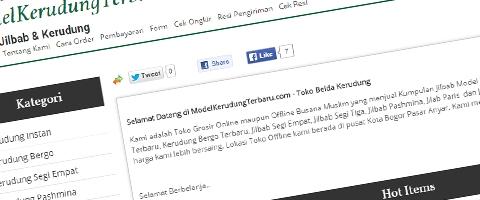 Jasa Pembuatan Website Bandung Murah  Jasa pembuatan website murah Bandung Toko Online Model Kerudung Terbaru