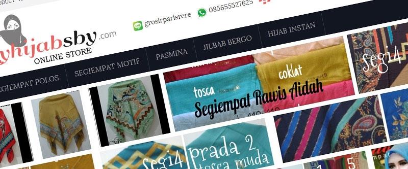 Jasa Pembuatan Website Bandung Murah  Jasa pembuatan website murah Bandung Toko Online My Hijab sby