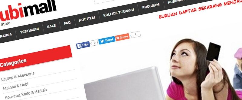 Jasa Pembuatan Website Bandung Murah  Jasa pembuatan website murah Bandung Toko Online Nubi Mall