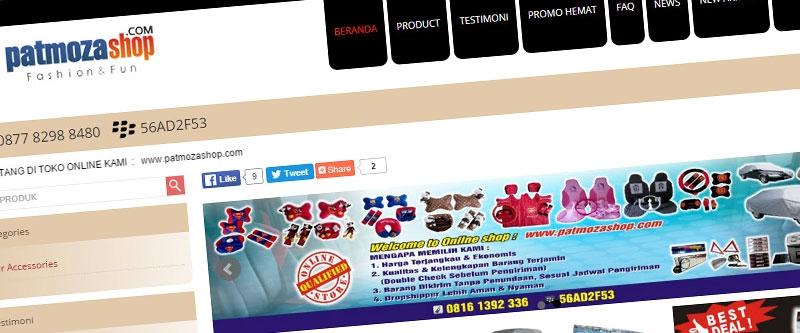 Jasa Pembuatan Website Bandung Murah  Jasa pembuatan website murah Bandung Toko Online Patmoza Shop