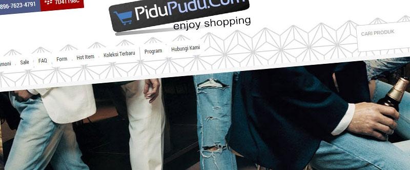 Jasa Pembuatan Website Bandung Murah  Jasa pembuatan website murah Bandung Toko Online Pidupudu