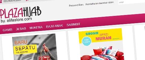 Jasa Pembuatan Website Bandung Murah  Jasa pembuatan website murah Bandung Toko Online Plaza Hijab