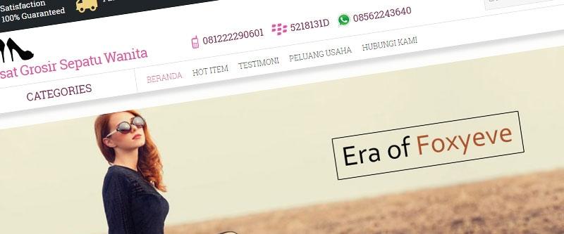 Jasa Pembuatan Website Bandung Murah  Jasa pembuatan website murah Bandung Toko Online Pusat Grosir Sepatu Wanita