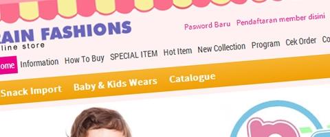 Jasa Pembuatan Website Bandung Murah  Jasa pembuatan website murah Bandung Toko Online Rain Fashion