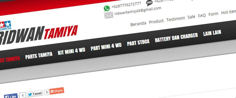 Jasa Pembuatan Website Bandung Murah  Jasa pembuatan website murah Bandung Toko Online Ridwan Tamiya