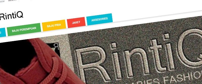 Jasa Pembuatan Website Bandung Murah  Jasa pembuatan website murah Bandung Toko Online Rintiq Shop