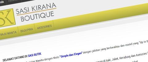 Jasa Pembuatan Website Bandung Murah  Jasa pembuatan website murah Bandung Toko Online Sasi Butik