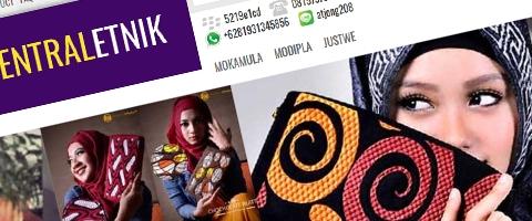 Jasa Pembuatan Website Bandung Murah  Jasa pembuatan website murah Bandung Toko Online Sentral Etnik