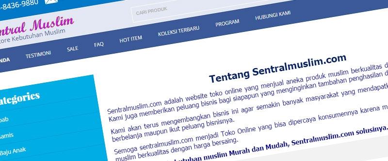 Jasa Pembuatan Website Bandung Murah  Jasa pembuatan website murah Bandung Toko Online Sentral Muslim