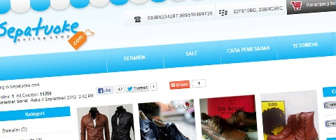 Jasa Pembuatan Website Bandung Murah  Jasa pembuatan website murah Bandung Toko Online Sepatuoke.com